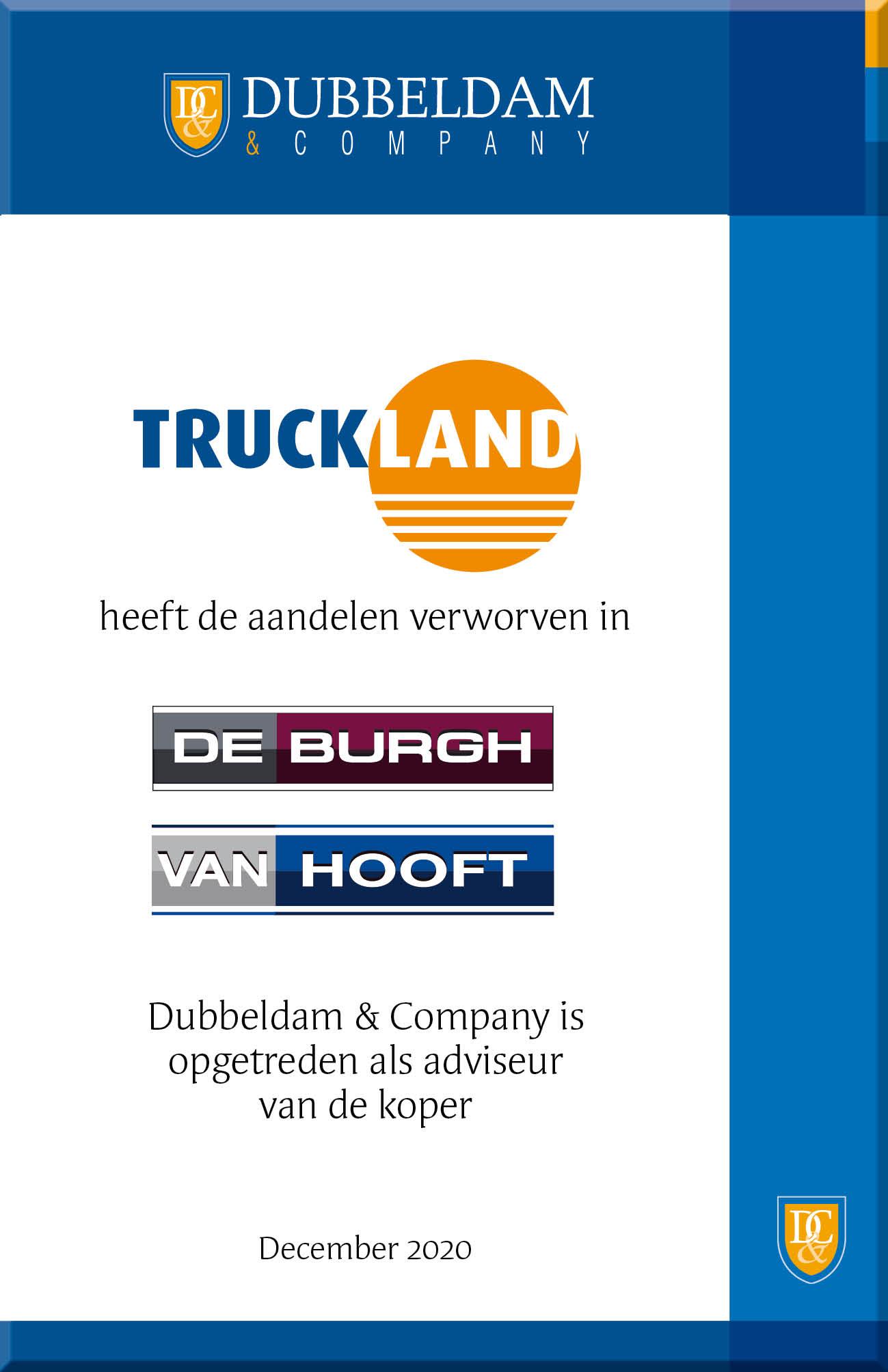 Truckland neemt De Burgh en Van Hooft over